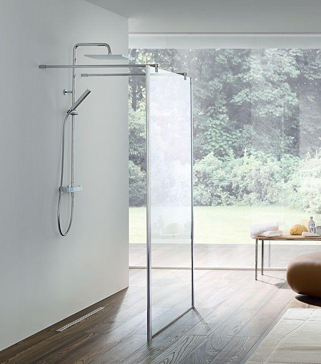 une cabine de douche sans porte et trs tendance - Douche Sans Porte