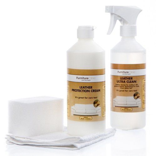 Large Leather Care Kit Includes A Protection Cream Cleaner Sponge
