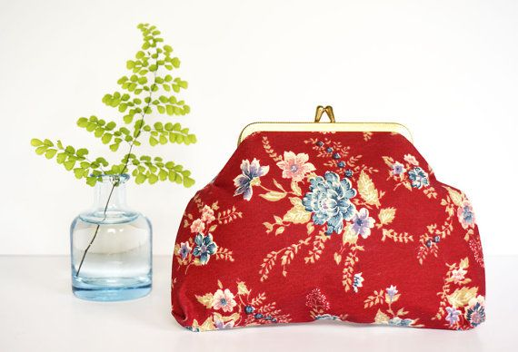 Floral Change Purse Vintage Wallet Coin Purse Vintage by Felonwood