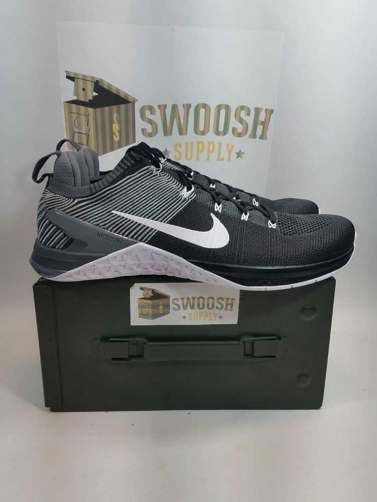 Nike Metcon Flyknit DSX Flyknit Metcon 2 Grey Tamanho 14 Preto branco Grey 924423 010 a45edb