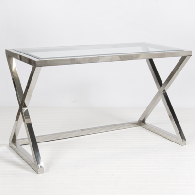 Silver And Glass Console Table Zef Jam - Pottery barn glass console table
