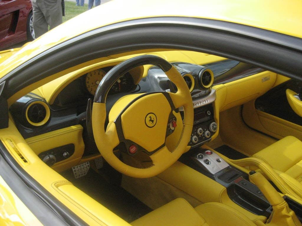 ferrari 599 yellow and black interior carbon fiber auto addiction interiors pinterest. Black Bedroom Furniture Sets. Home Design Ideas
