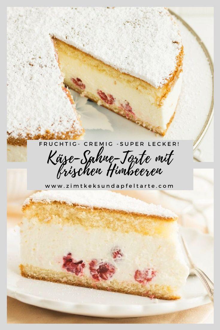 Kase Sahne Torte Mit Himbeeren Chefkoch Foodblogger Pinterest