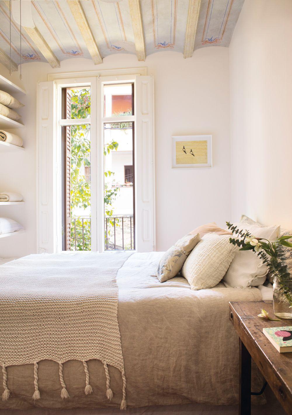 Techos bajos mi casa dormitorios decoraci n de unas for Cortinas para banos rusticos