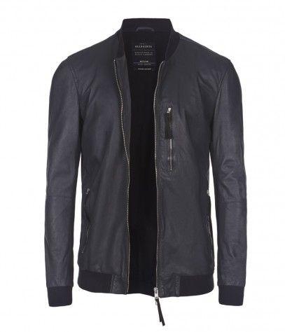 de7826761 Hakonie Leather Bomber Jacket, Men, Leathers, AllSaints Spitalfields ...
