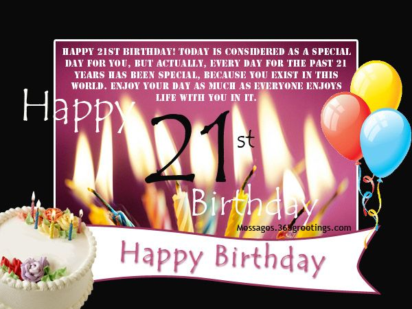 21st Birthday Wishes Messages and Greetings – Happy 21st Birthday Cards to Print