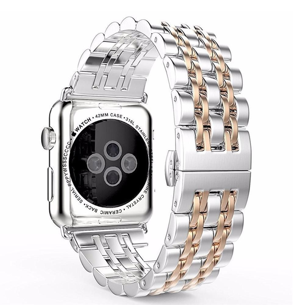 Apple Watch Band, Stainless-Steel Metal Bracelet with