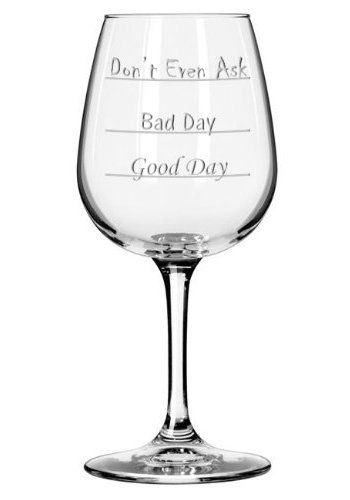 Unique Mood Wine Glass Boss Day Gift Ideas