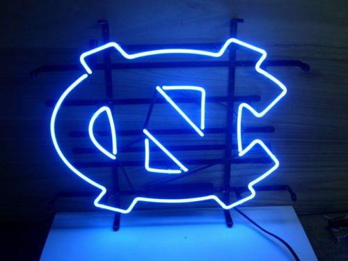 New North Carolina Tarheels Real Glass Neon Light Beer Pub Sign   eBay