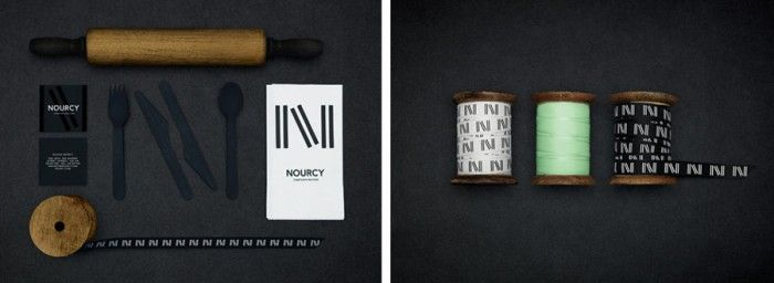 Nourcy bakery and cafe branding