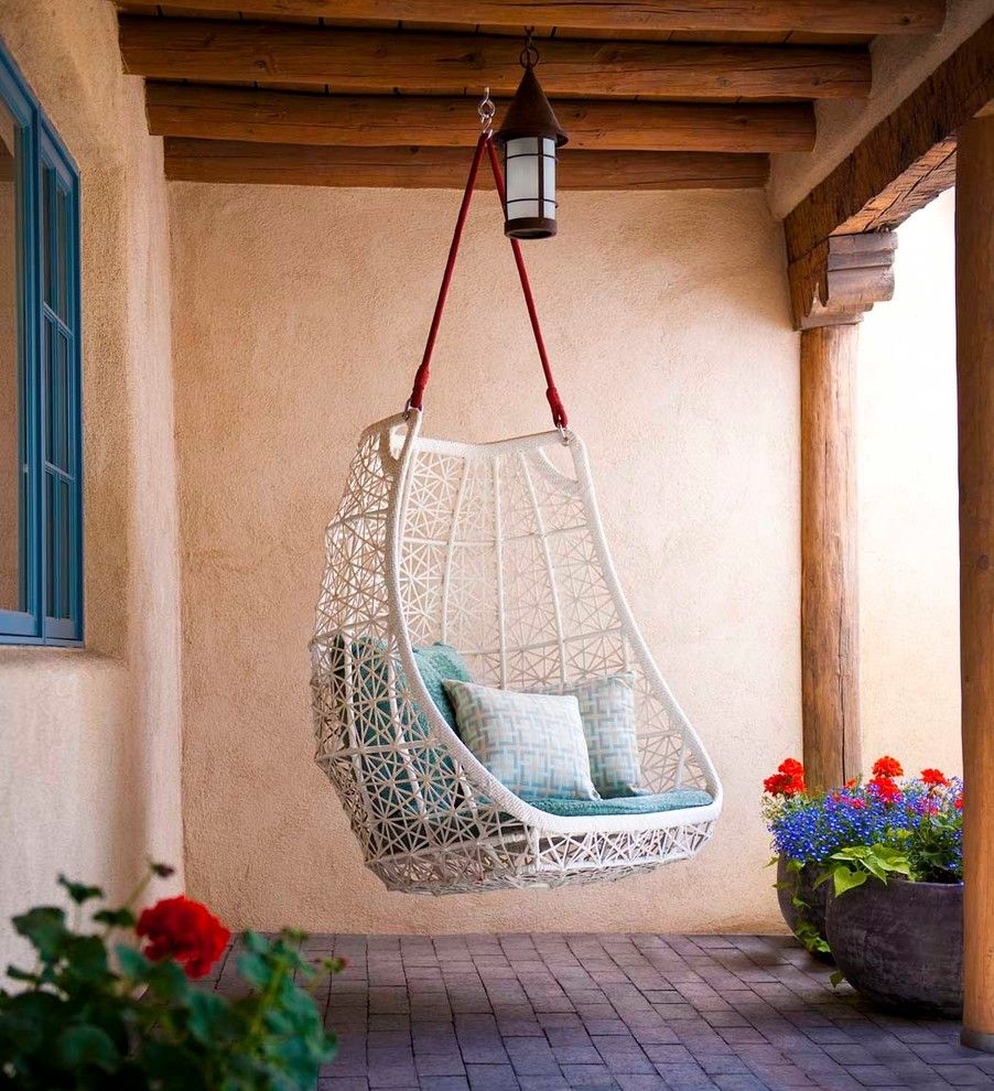 Glamorous Hammock Chair Swing In Patio Southwestern With Hanging Chair Next  To Potted Patio Trees Alongside Small Backyard Patio And Small Patio