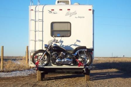 a custom motorcycle carrier on our