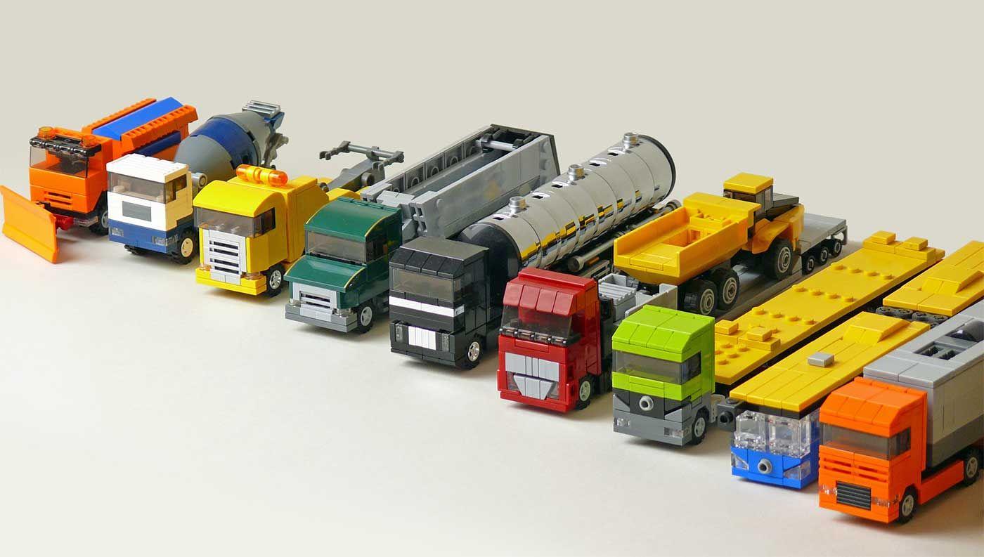 microscaled trucks trucks microscale brickadelics lego lego cars pinterest lego bauen. Black Bedroom Furniture Sets. Home Design Ideas