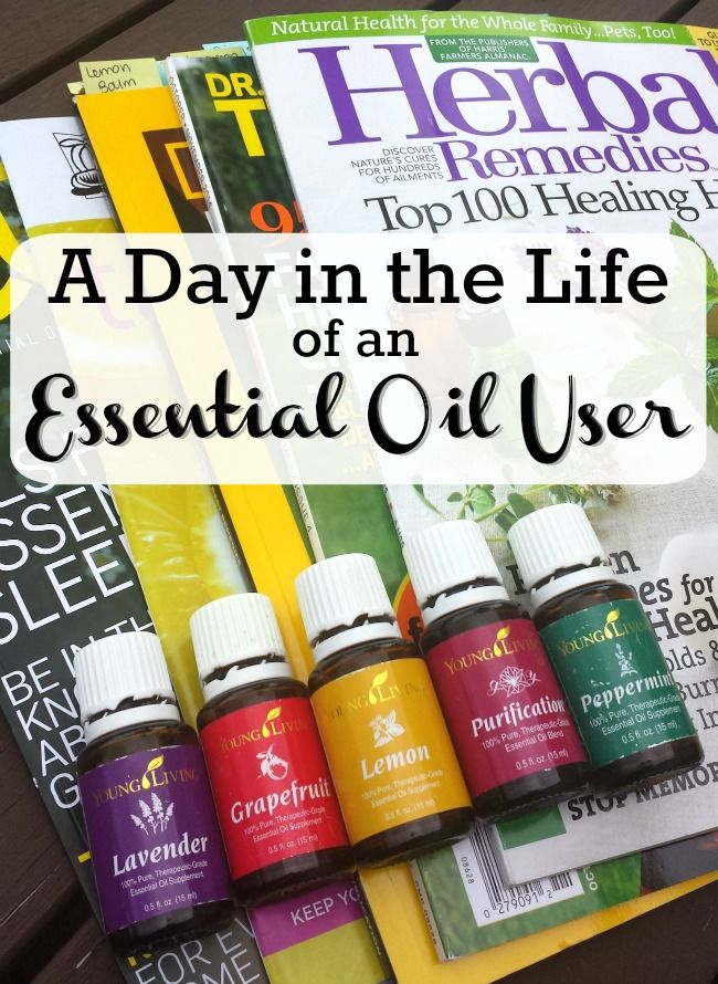 Ever wonder what essential oils are used for Here's a day in the life of this essential oil user.