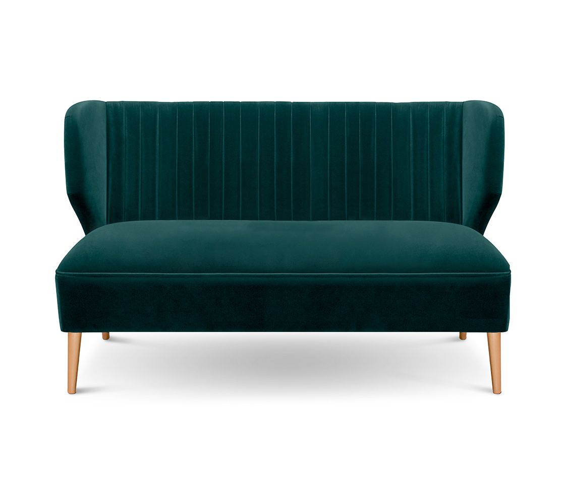 bakairi is a modern upholstered sofa with cotton velvet
