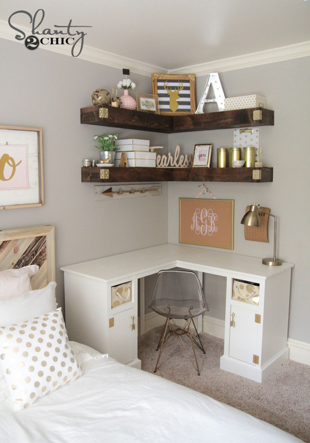 Clever and Easy DIY Bedroom Storage for Small Space