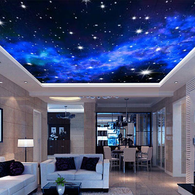 Best Interior Ceiling 3D Milky Way Stars Wall Covering Custom 400 x 300