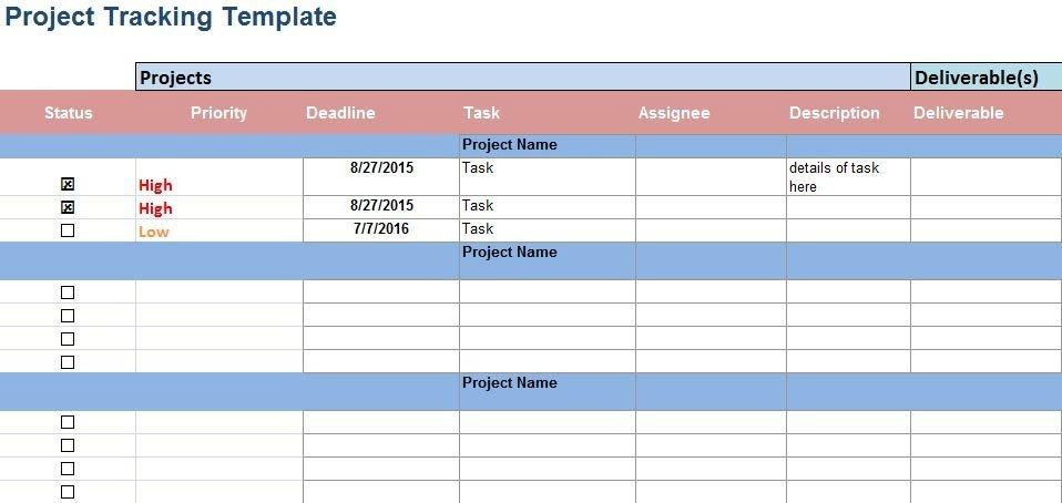 Weekly Calendar Template  Project Schedule Template