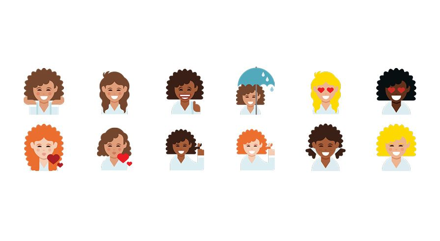 Dove Launches Curly Haired Emojis To End Straight Hair Dominance Curly Hair Styles Curly Hair Women Textured Hair