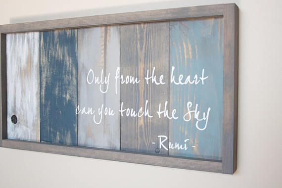 Rumi Quote Art Inspirational Quote Pallet Wood Art Furniture Ideas