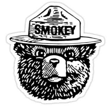 Smokey Black And White Sticker By Emma Cunningham Black And White Stickers Smokey The Bears Smokey