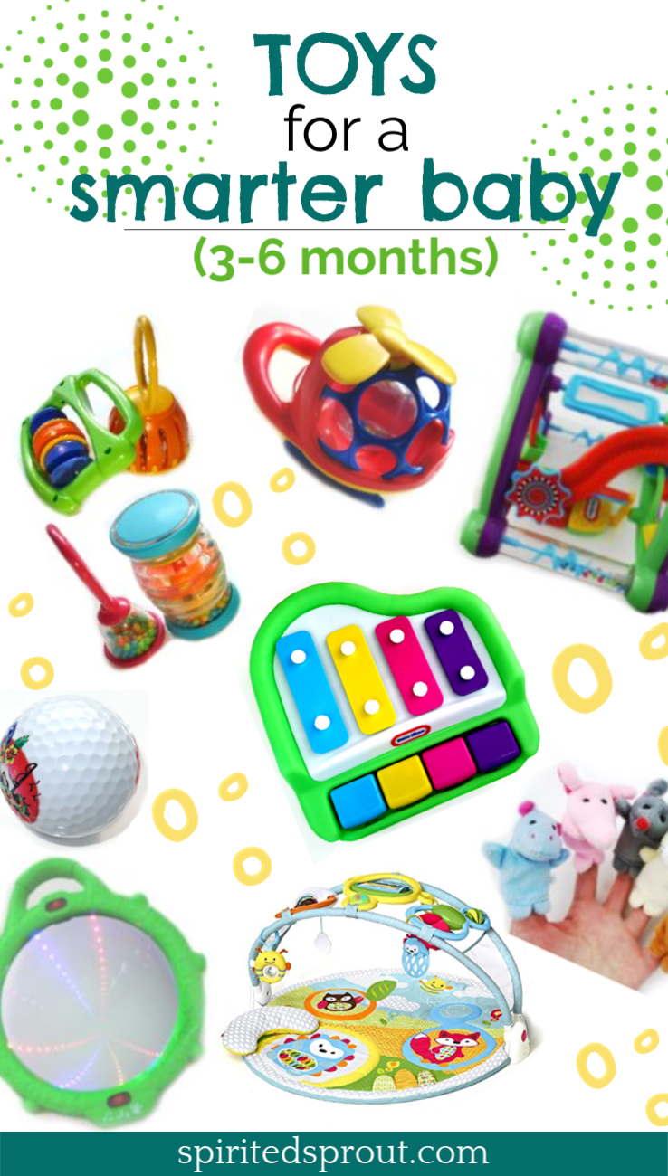Developmental activities for a smarter baby (3-6 month) - Spirited Sprout | Best  baby toys, Baby girl toys, Infant activities