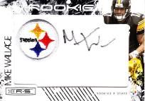 Pittsburgh Steelers Mike Wallace Team Logo Swatch Rookie Card Autograph