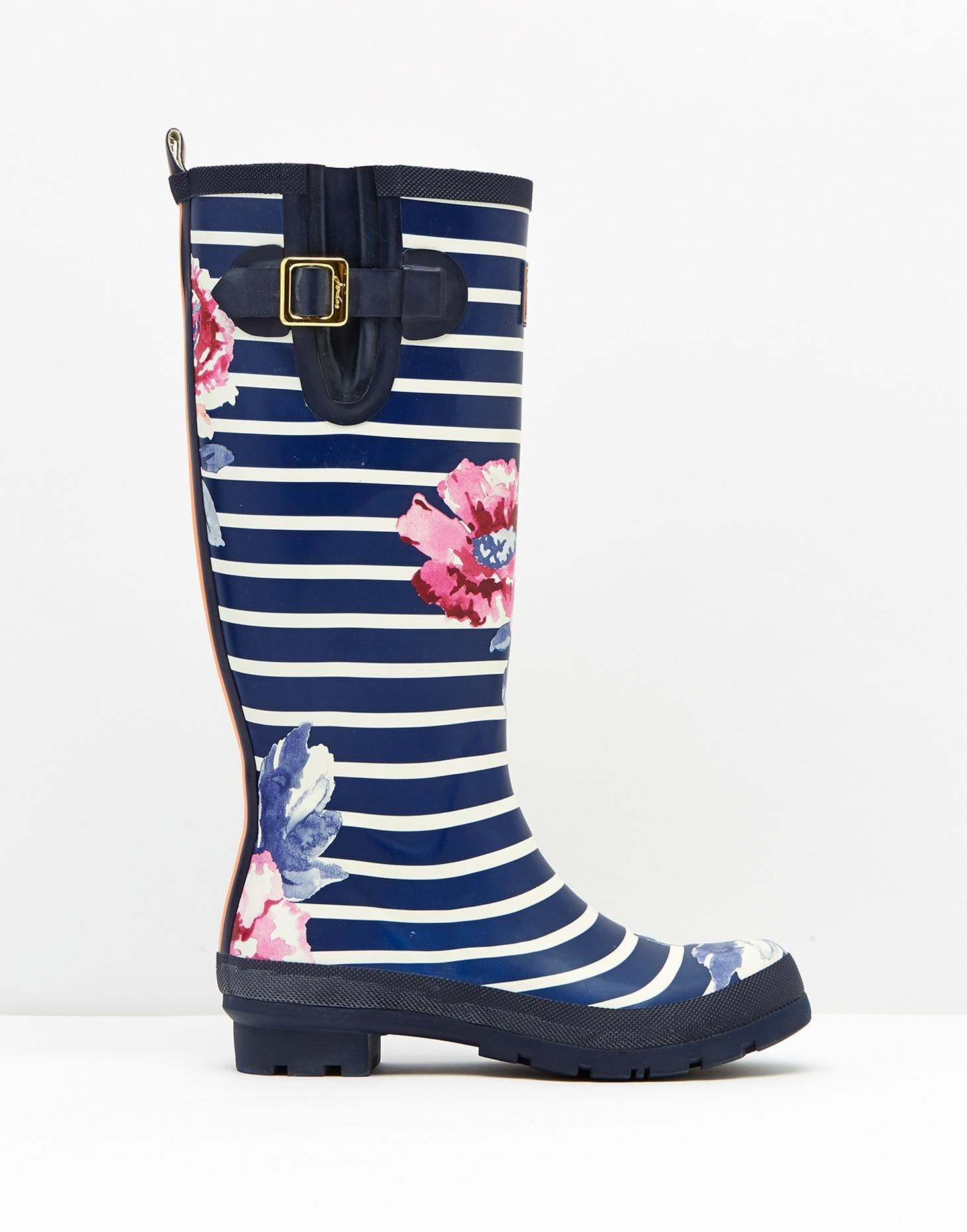 Joules Wellyprint Striped Tall Rain Boots Z6XmA