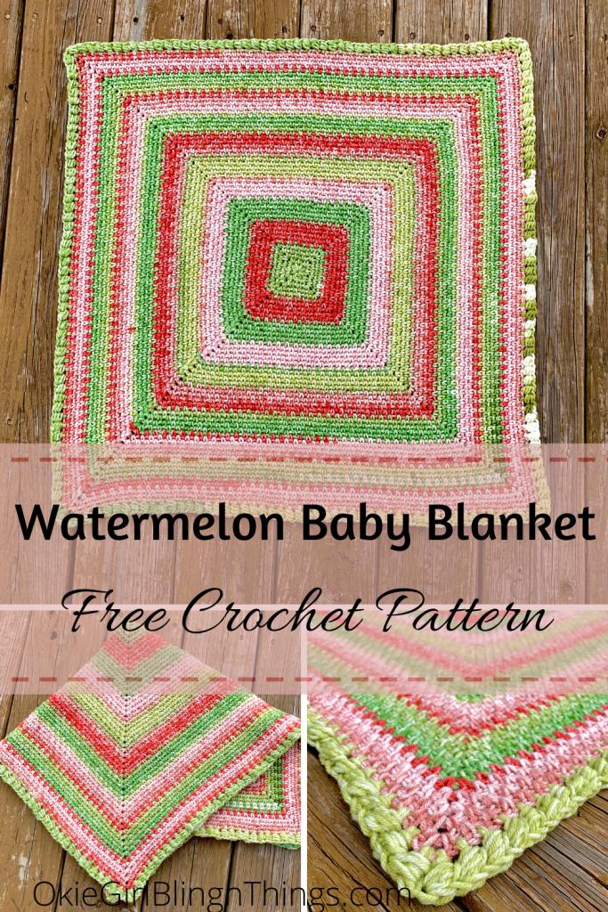 Watermelon Baby Blanket - Free Crochet Pattern - OkieGirlBling'n'Things
