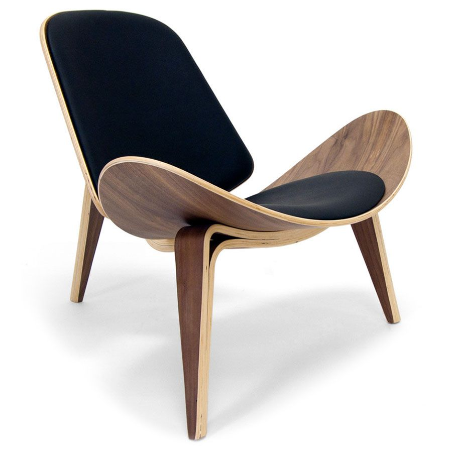 Chicago Classic Modern Chair In Black And Walnut With Images