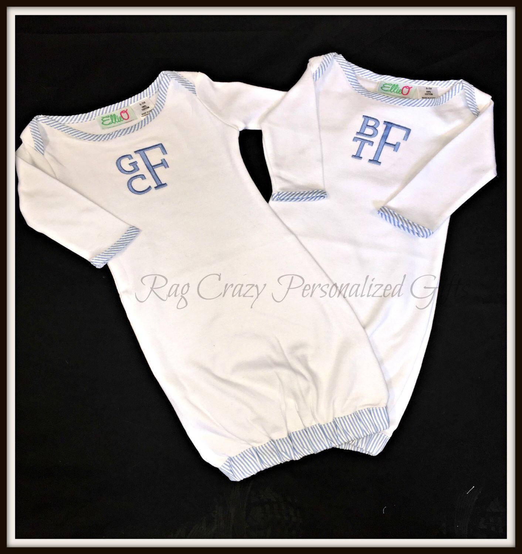 Personalized baby boy gowns seersucker baby gowns baby gifts personalized baby boy gowns seersucker baby gowns baby gifts baby boy gift negle Gallery