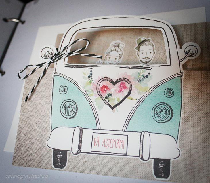 Invitatie Retro Love Bus 39316