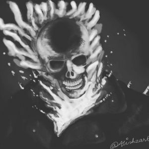 The Ghost Rider by zaratus on DeviantArt  |Ghost Rider Digital Painting Photoshop