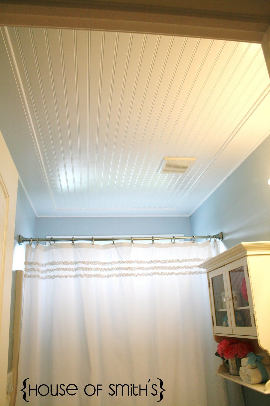 Beadboard Ceiling In Bathroom The House Of Smiths Home Diy Interior Decorating Blog Home Remodeling