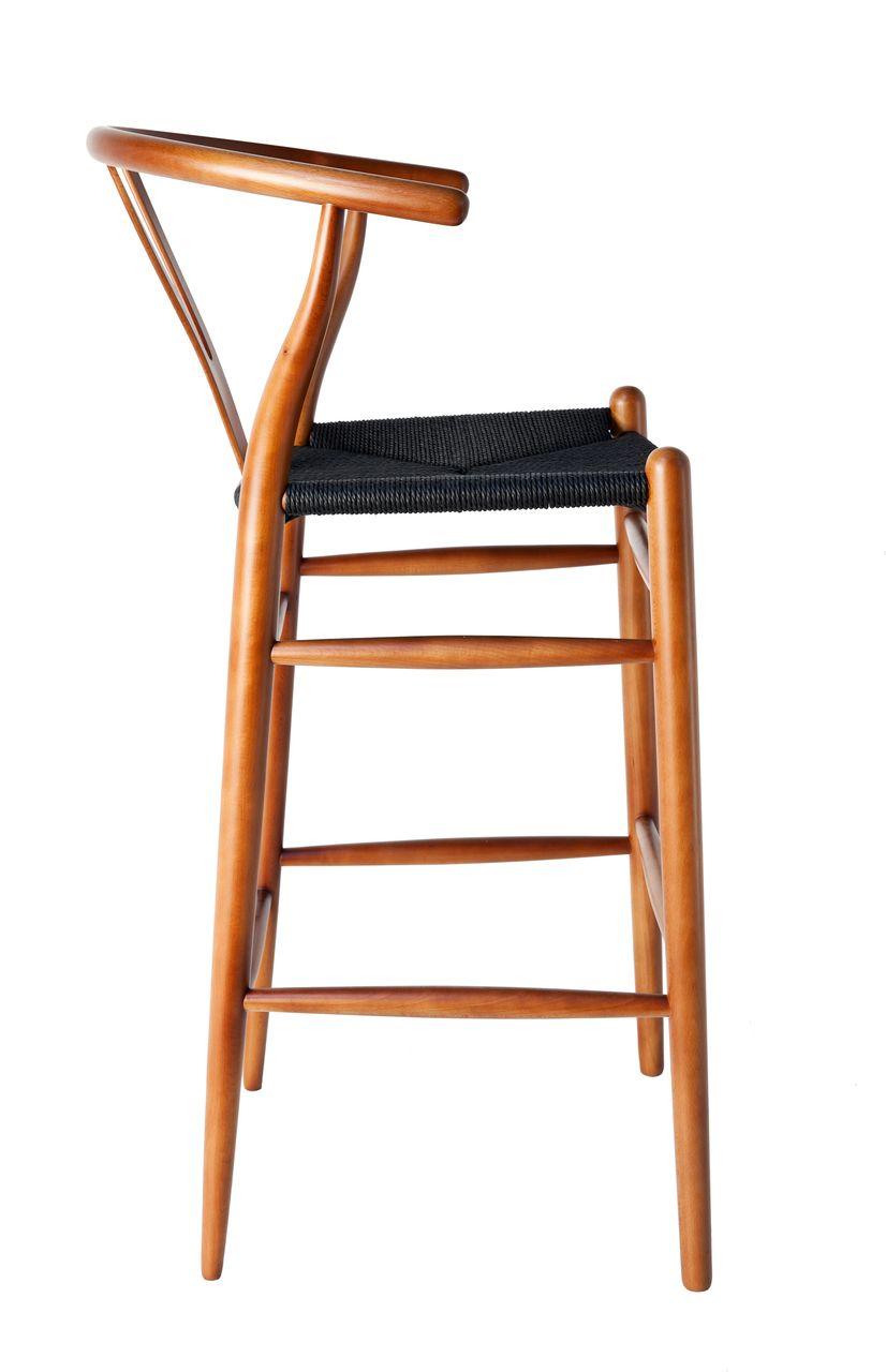 Replica Hans Wegner Wishbone Barstools Black seat, Choice