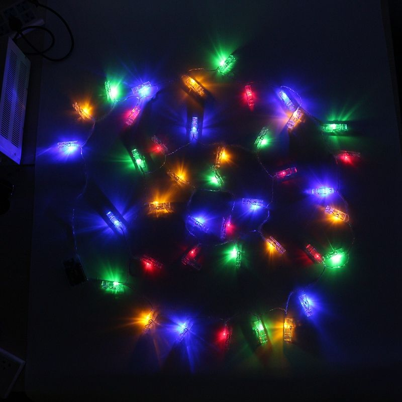 Hanging Picture Photo Peg Clip 4M 40 LED String Light Christmas