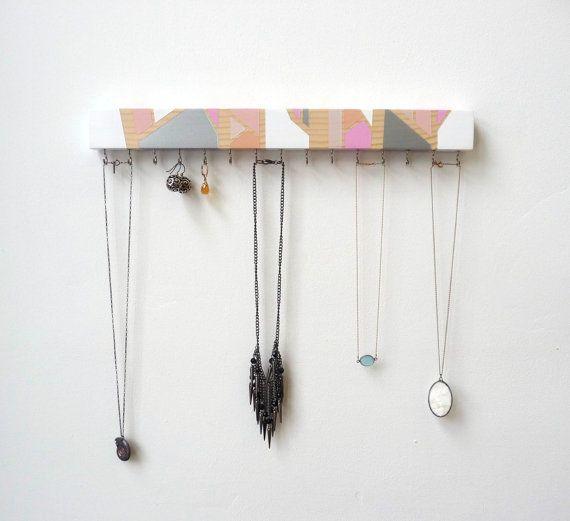 Necklace Holder Jewelry Organizer Winter Decor by FreshlyFramed