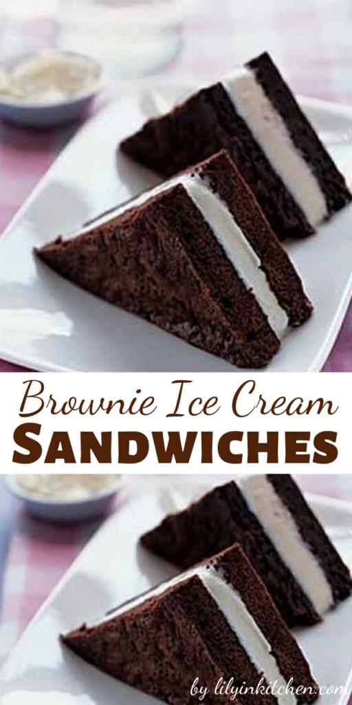 Brownie Ice Cream Sandwiches Recipe Brownie Ice Cream Stick
