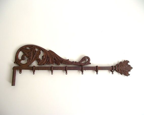Swing Curtain Rod Wall Hanging Ornate Cast Iron By Gazaboo