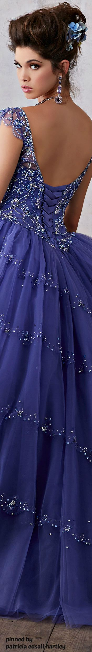 Belleza!!! Blue Iris dress | La Periwinkle, Violet Tulip, Blue ...