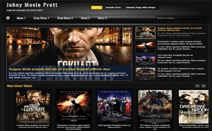 20 Free Movie Blogger Templates For Review Sites