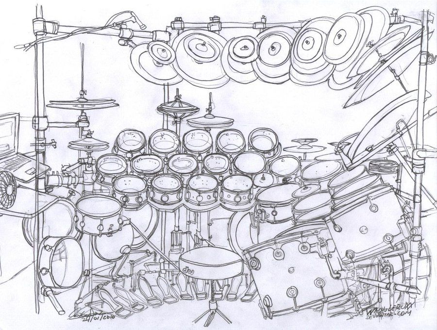Terry Bozzio S Drum Set By Drawing Tumblr
