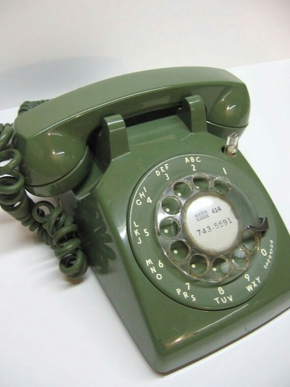 1970s Avocado Rotary Phone | Nostalgia 1970's in 2019
