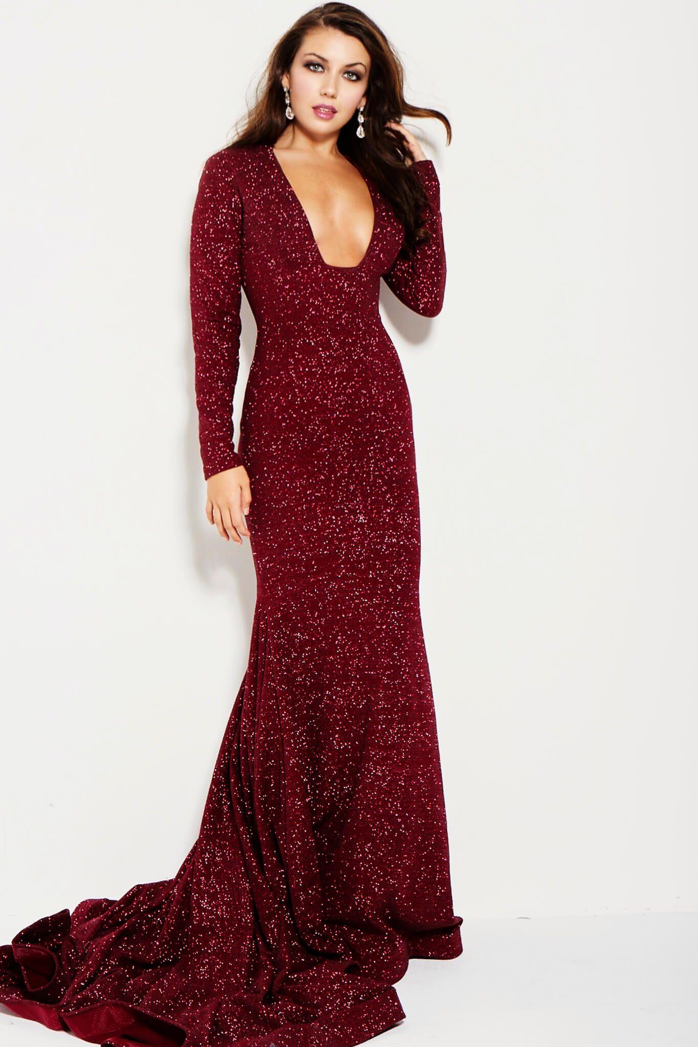 80d58353 JOVANI LONG SLEEVE SHIMMER GOWN. #jovani #cloth # | Jovani | Dresses ...