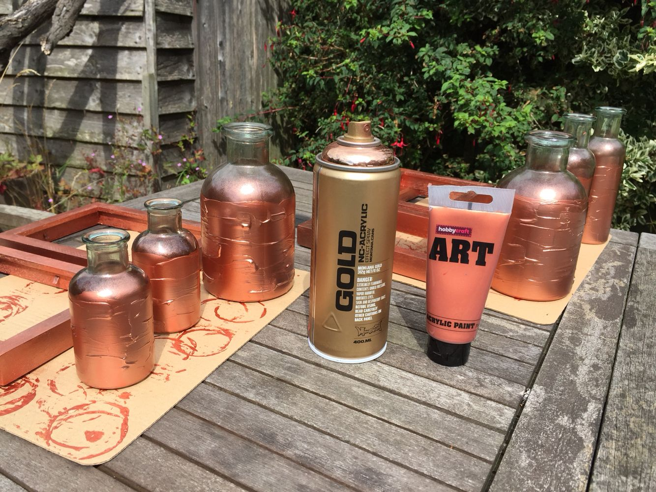 how to make rose gold paint