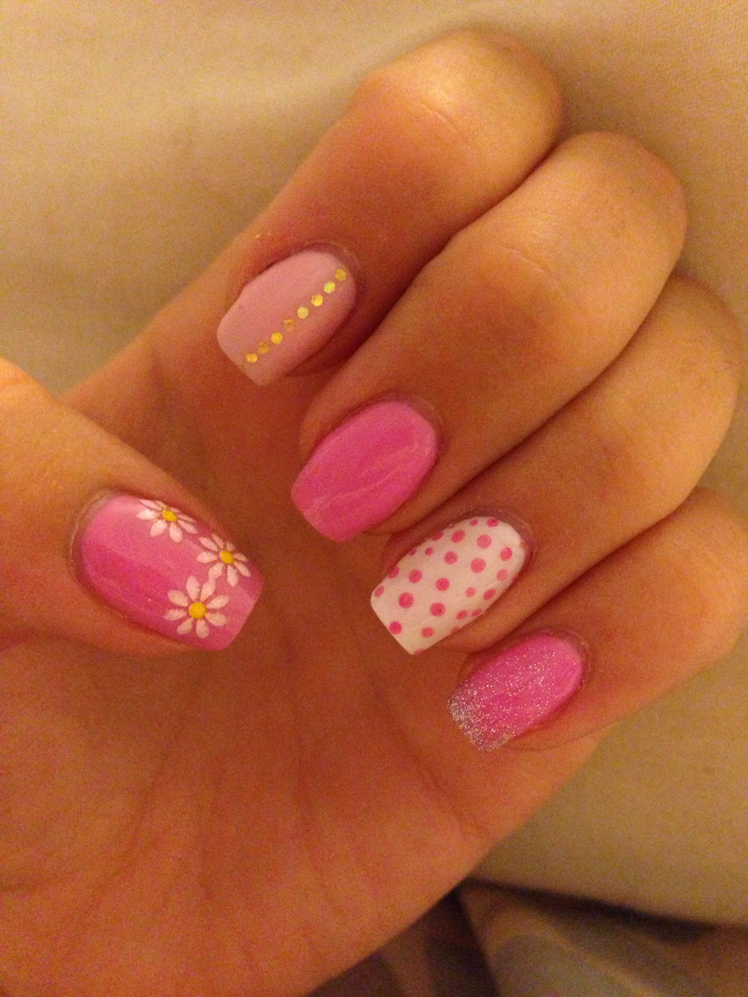 Holiday Nails Pretty Pink Summer Summer Holiday Nails