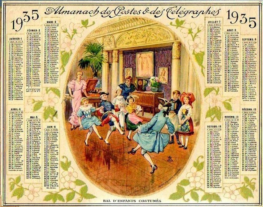 Calendrier Poste.Calendrier Poste 1935 Calendrier Oublie Moi Et Souvenir
