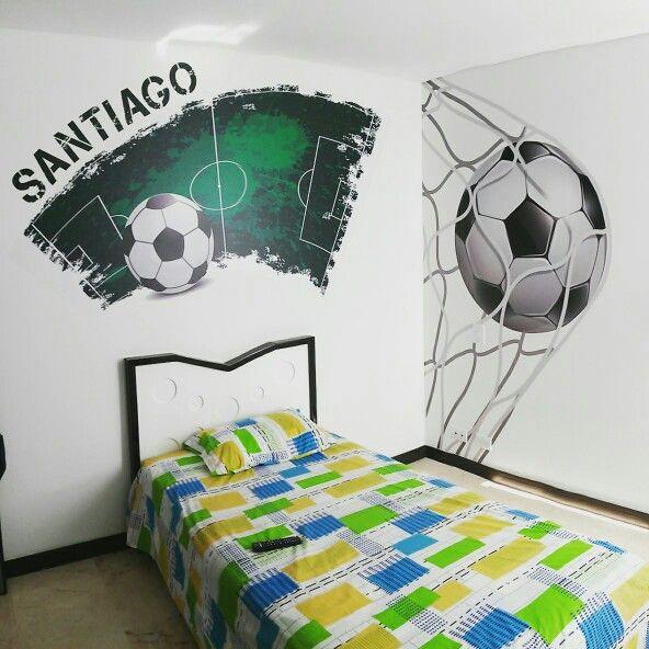 Habitacion futbol cuartos de futbol t ftbol cuarto de for Decoracion de cuartos de ninos de futbol