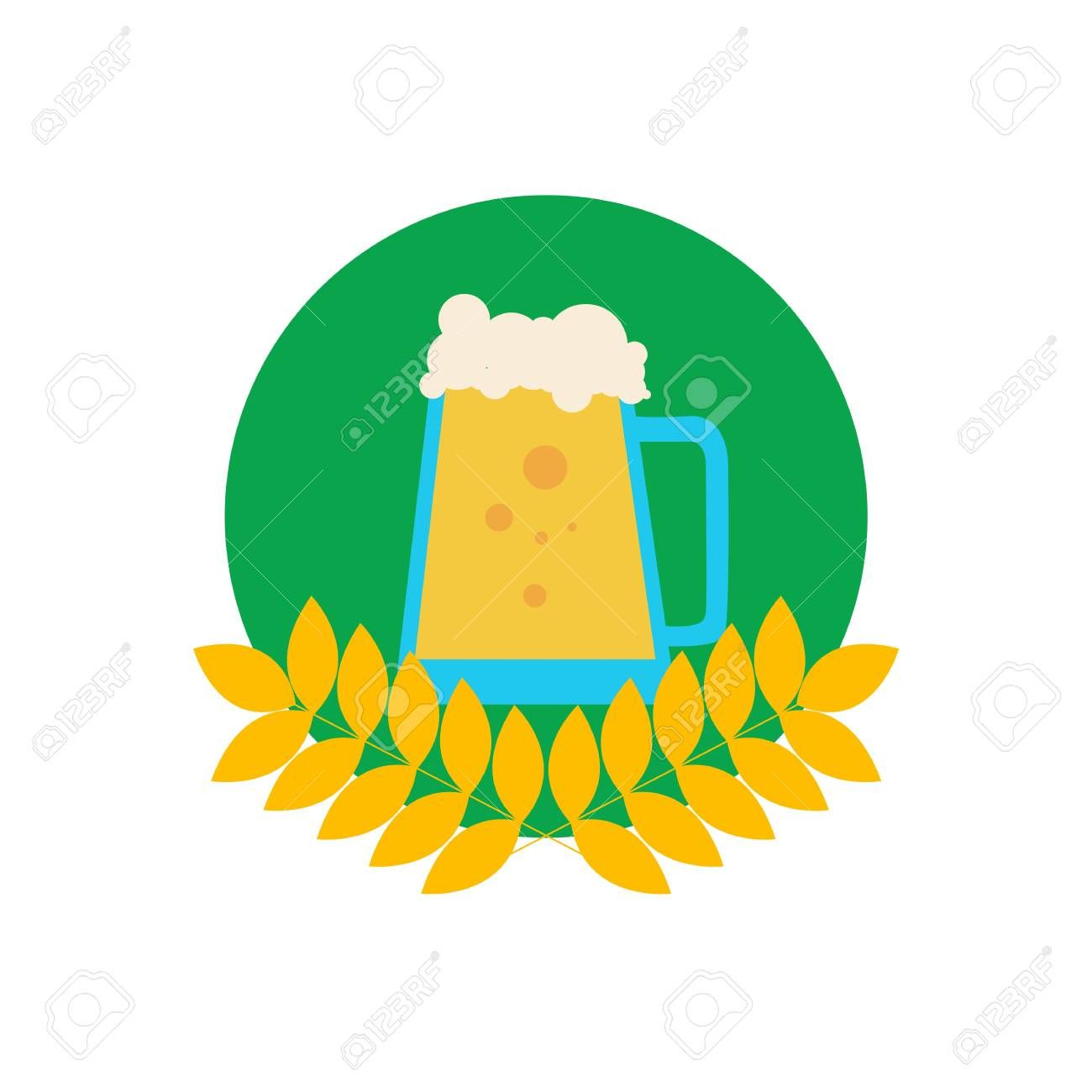 Beer Pitcher in Wheat Emblem. ,