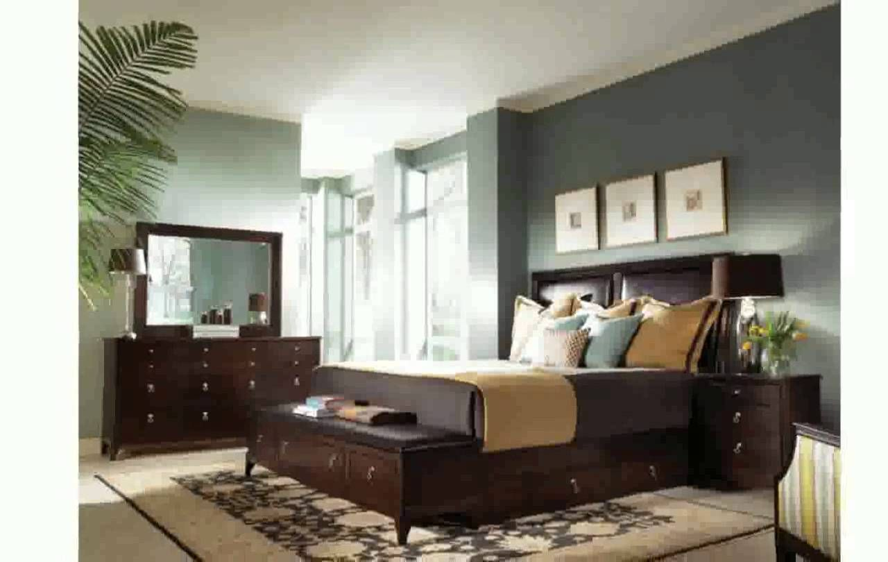 bedroom wall colors with dark brown furniture | bedroom wall